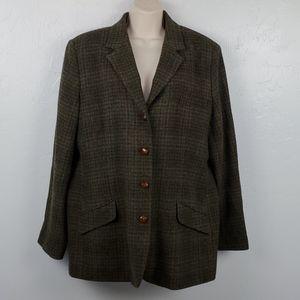 Vintage Orvis women blazer four buttons up size 18